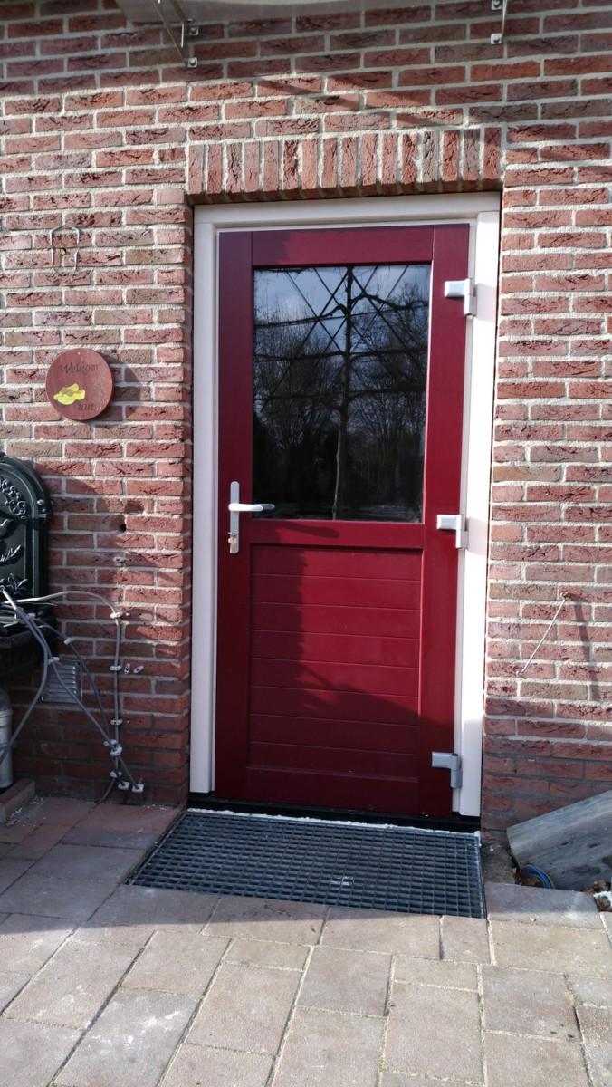 Alufox Deuren Garage zijdeur Rood