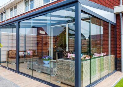 Alufox Overkapping Veranda A3 Glazen Schuifwand 3