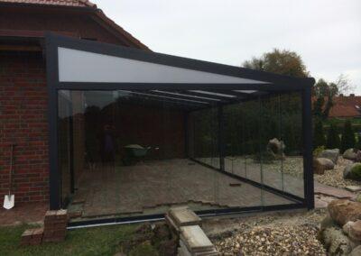 Alufox Overkapping Veranda A3 Glazen Schuifwand