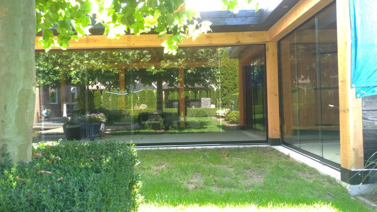 Alufox Schuifwanden Glas Houten Veranda