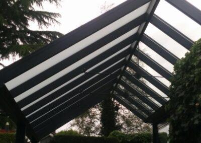 Alufox serre op maat geïntegreerd in woning met veranda 2