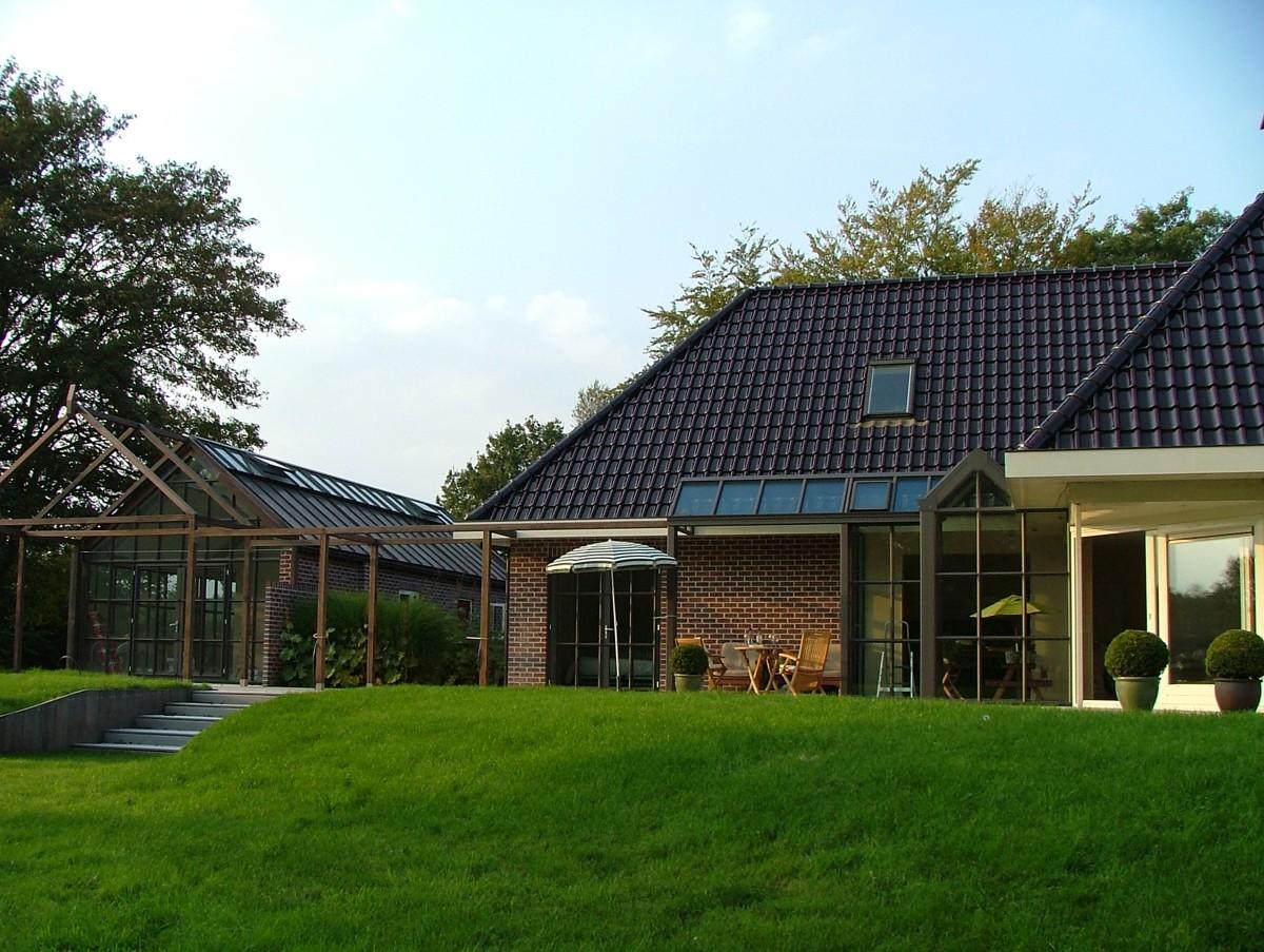 Alufox serre op maat met glazen dak buiten 2