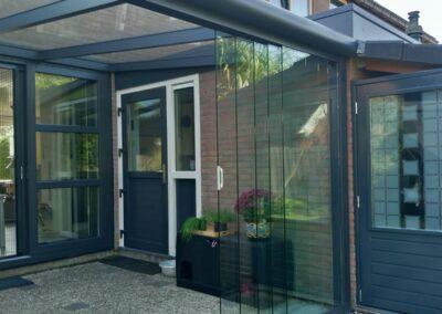 Glazen Tuinkamer Groningen Schuifpui in huis Alufox